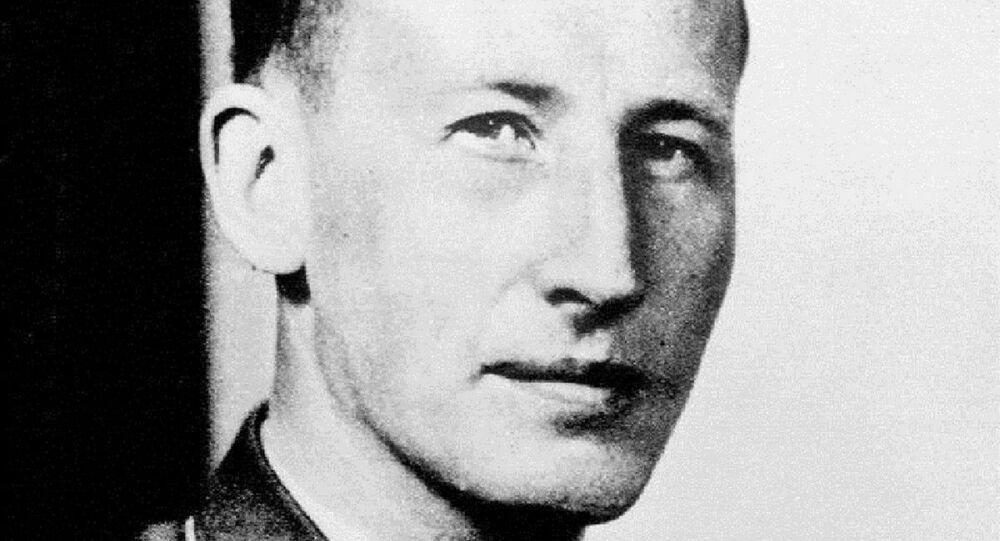 Oficial nazista Reinhard Heydrich (foto de arquivo)