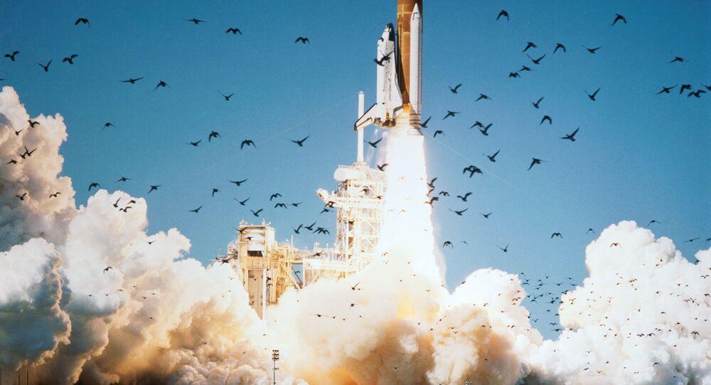 Ônibus espacial Challenger sendo lançado em 28 de janeiro de 1986 (foto de arquivo)