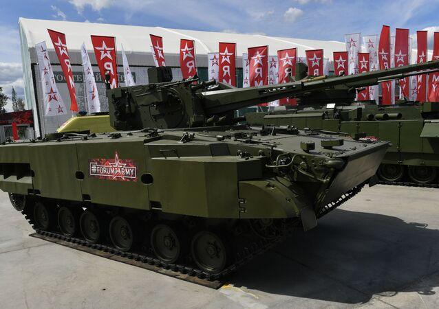 Complexo de artilharia antiaérea autopropulsionado 2C38 Derivatsya-SV no fórum técnico-militar internacional EXÉRCITO 2019