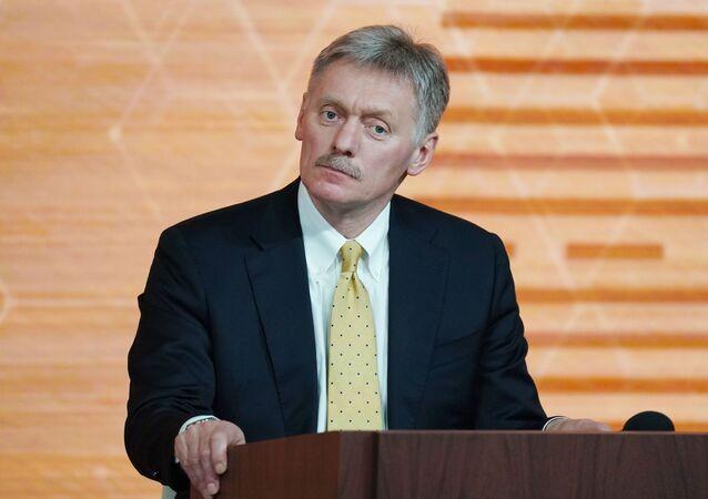 Porta-voz do presidente da Rússia, Dmitry Peskov, na 15ª coletiva de imprensa de Vladimir Putin, 19 de dezembro de 2019