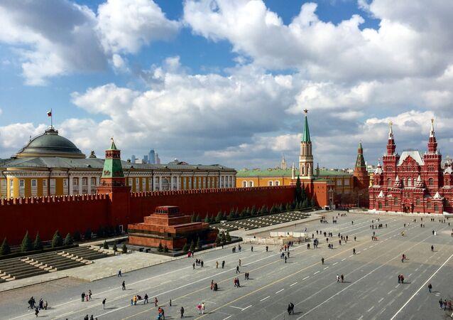 Mausoléu de Vladimir Lenin na Praça Vermelha em Moscou