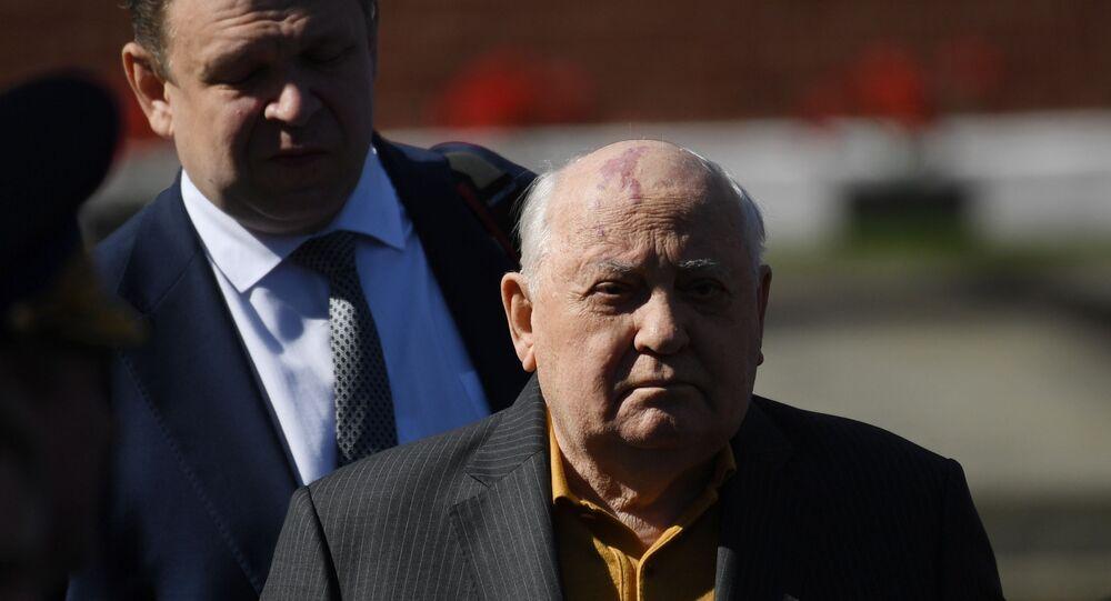 Ex-lider Mikhail Gorbachev em evento na Praça Vermelha, em Moscou (foto de arquivo)