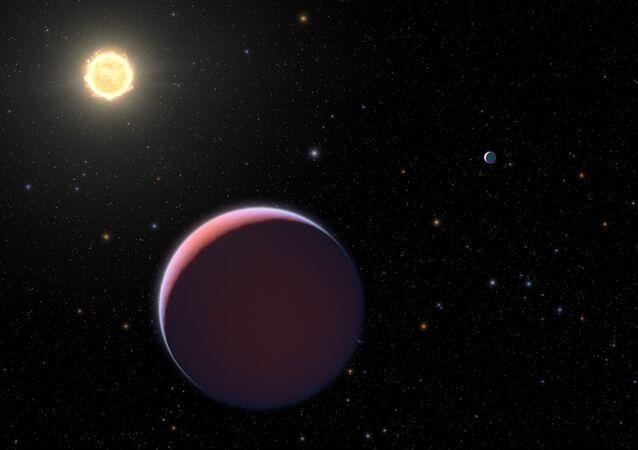 Representação artística do Kepler 51
