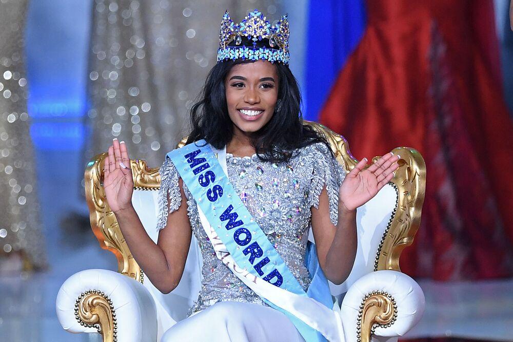 Vencedora do concurso Miss Mundo 2019, Toni-Ann Singh, representante da Jamaica