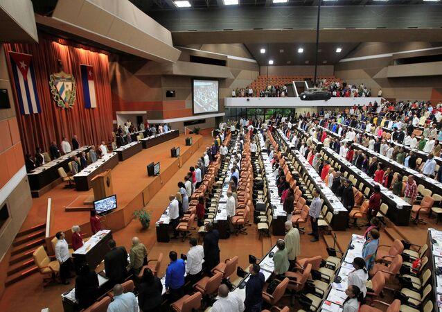 Sessão da Assembleia Nacional Popular de Cuba, em Havana, em 20 de dezembro de 2019.