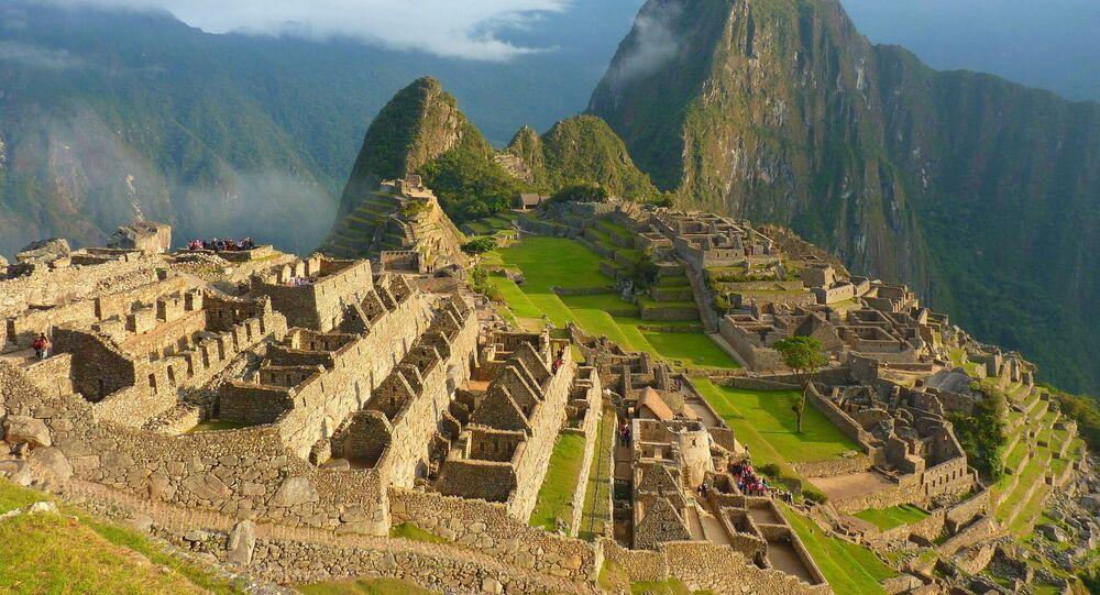 Cidadela inca Machu Piсchu no Peru
