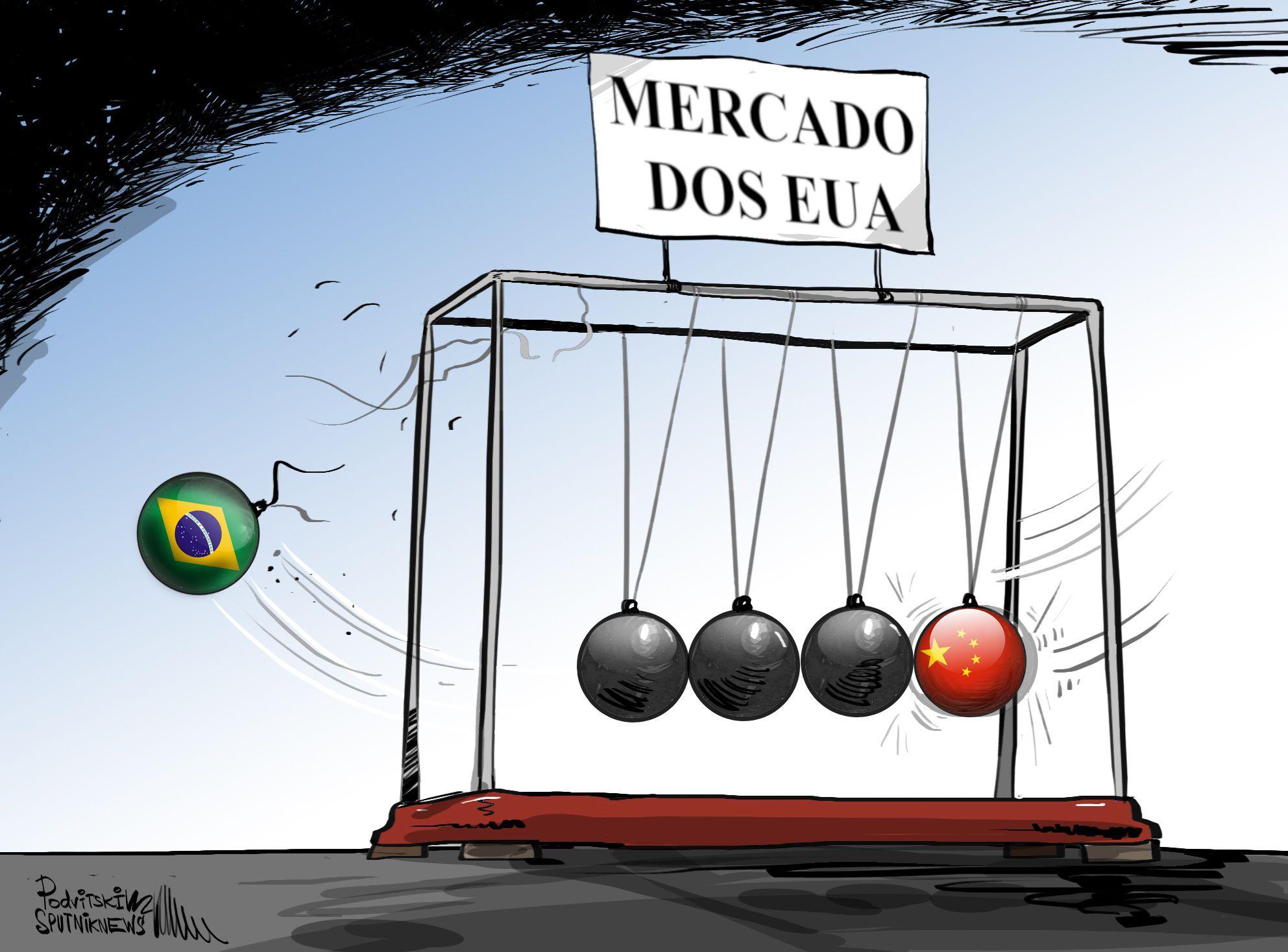 Queda do Brasil do 'berço' China-EUA.