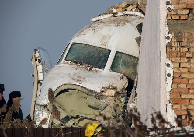 Local da queda do avião Fokker 100 da Bek Air, perto de Almaty, Cazaquistão, 27 de dezembro de 2019