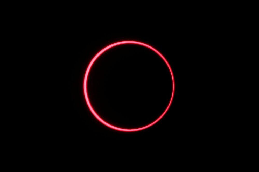 Eclipse solar observado a partir de Siak, na província indonésia de Riau