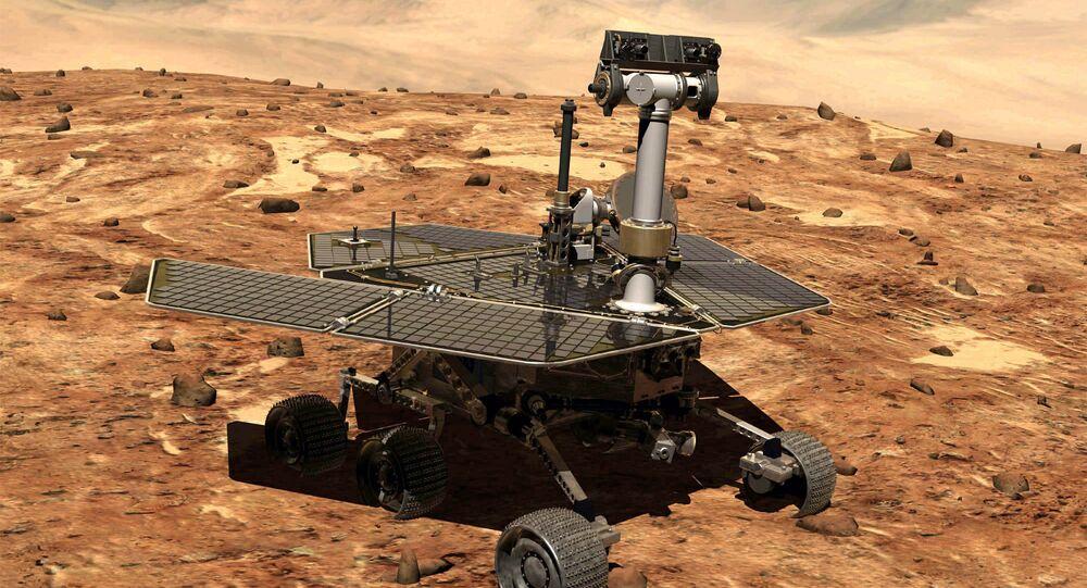 Veículo para missões em Marte, Opportunity (imagem ilustrativa)