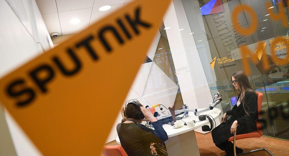 Estúdio da Rádio Sputnik