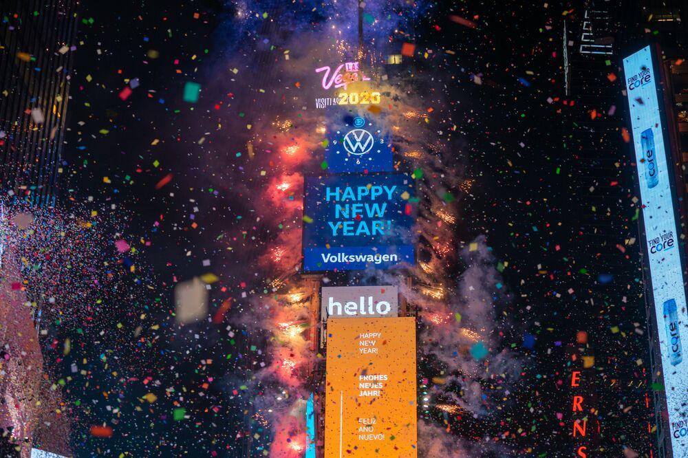 Celebrações de Ano Novo na Times Square, Nova York, EUA
