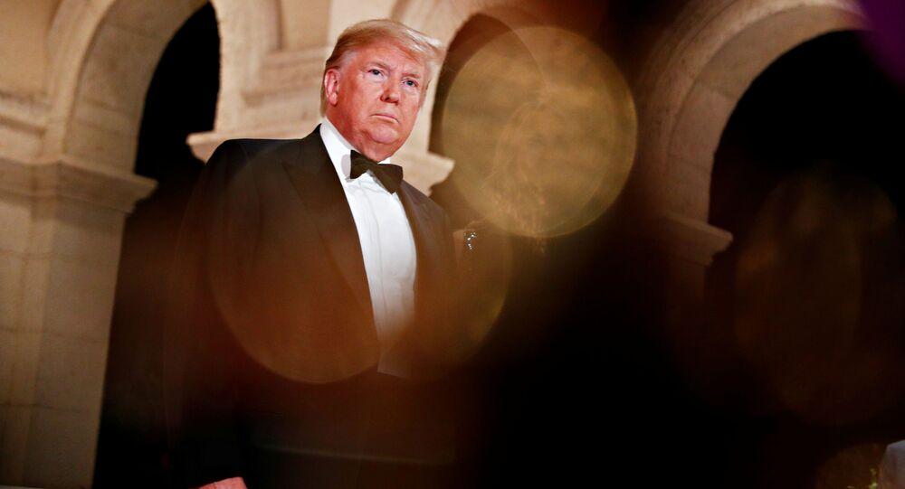 Presidente dos EUA, Donald Trump, durante as comemorações de Ano Novo, em 31 de dezembro de 2019