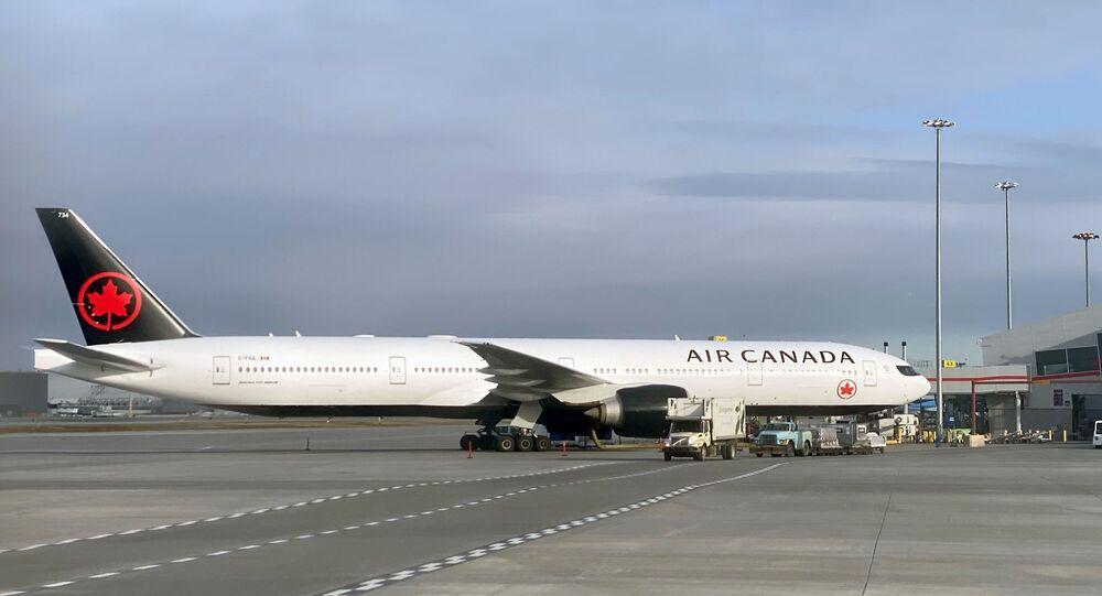 Avião da companhia aérea Air Canada