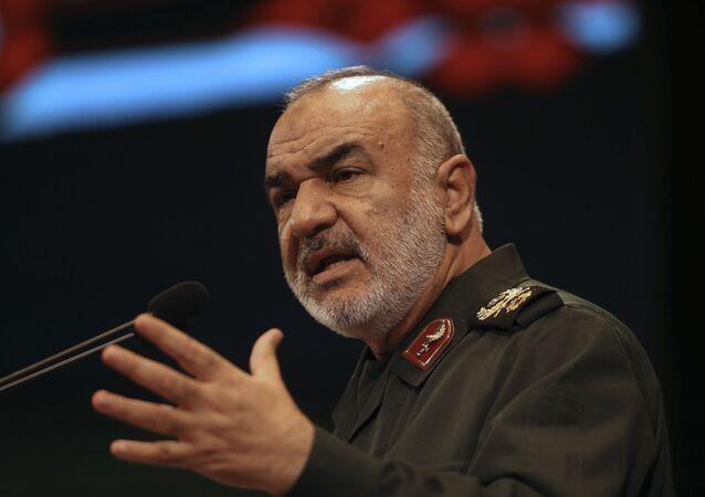 Comandante da Guarda Revolucionária, major-general Hossein Salami (foto de arquivo)