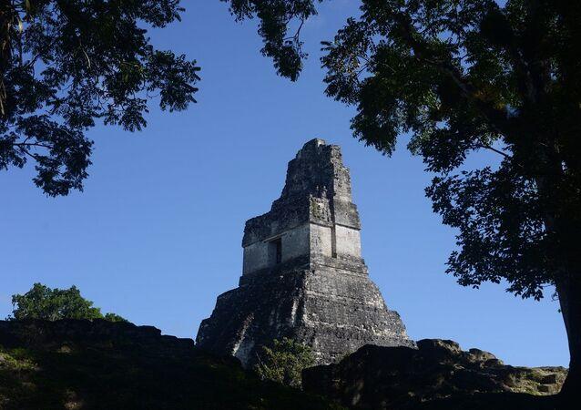 Sítio arqueológico indígena do departamento de Petén, na Guatemala (foto de arquivo)