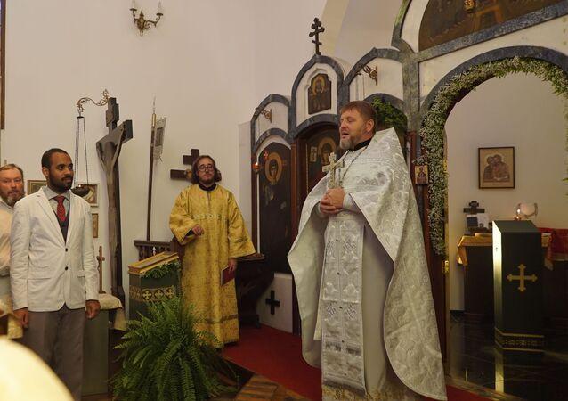 Liturgia de Natal na Igreja Ortodoxa Russa no Rio de Janeiro