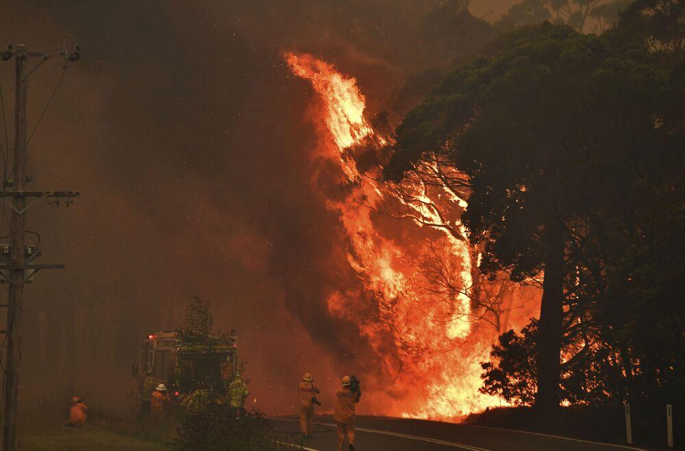 Incêndio próximo à cidade australiana de Bilpin