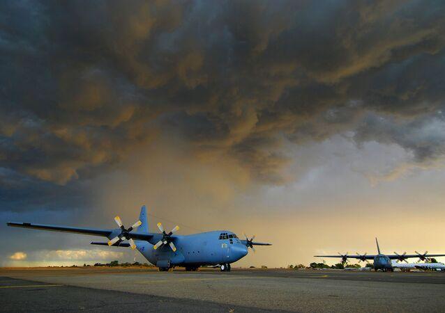 Avião C130 da Força Aérea da África do Sul