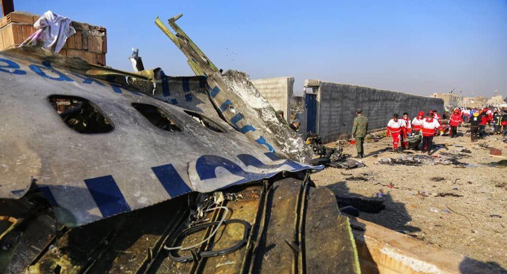 Local do acidente do Boeing 737-800, perto do Aeroporto Internacional Imã Khomeini em Teerã