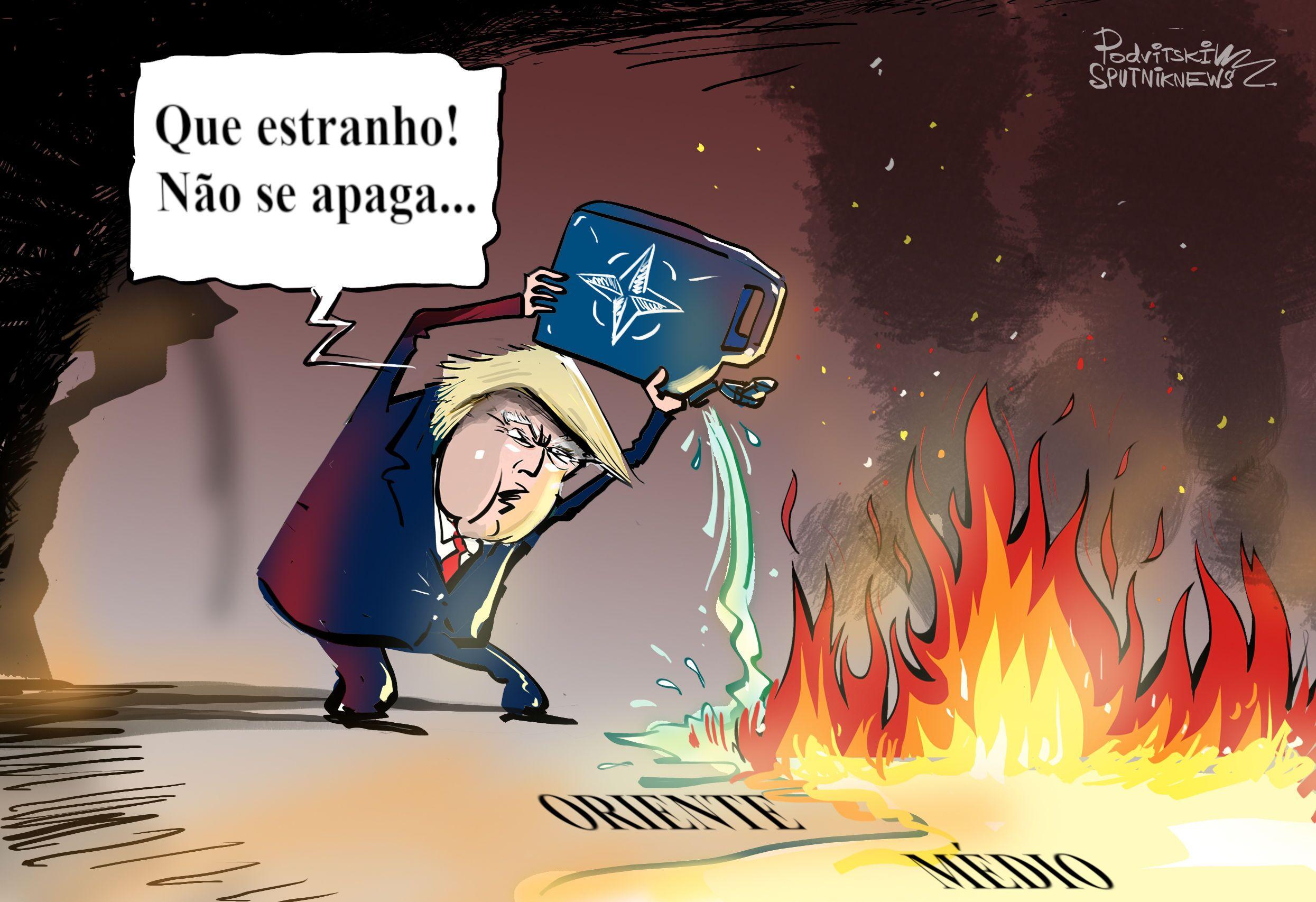 Apagando Oriente Médio com fogo da OTAN