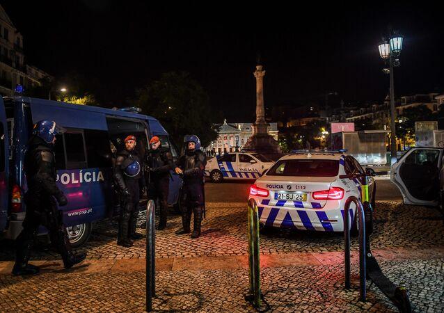 Policiais em Lisboa
