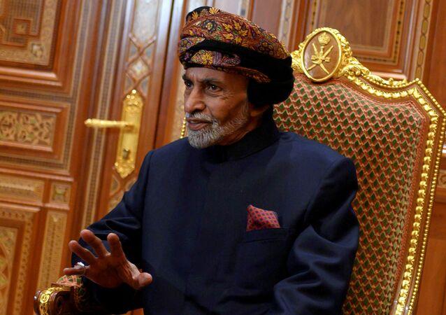 Sultão de Omã, Qaboos bin Said al-Said, em seu palácio real em 2019