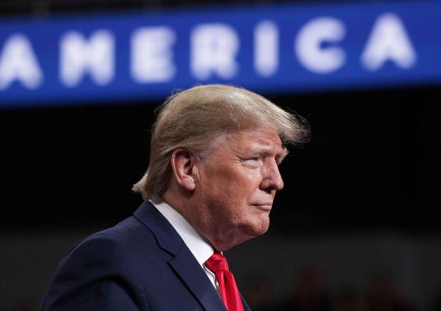 Donald Trump durante compromisso de campanha em Ohio, nos EUA, em 9 de janeiro de 2020