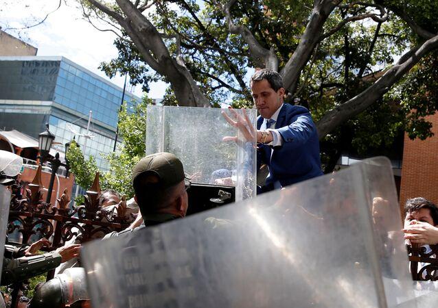 Juan Guaidó, político venezuelano da oposição e presidente autoproclamado