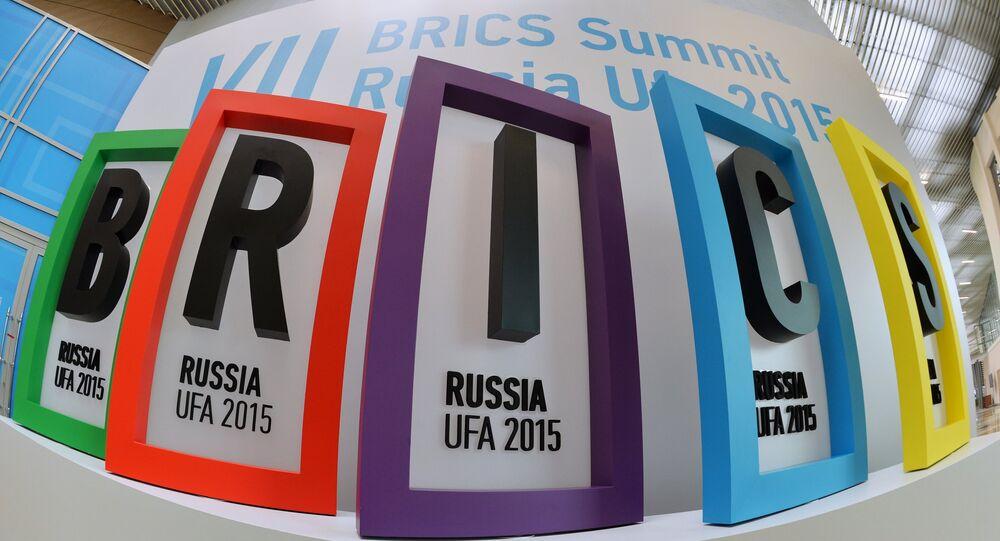 Logo da cimeira BRICS em Ufá