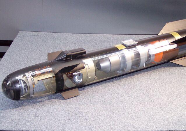 Modelo de míssil ar-terra AGM-114 Hellfire (chamas de inferno)