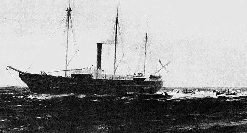 Navio mineiro Veliky Knyaz Konstantin, pertencente à Frota do Mar Negro (imagem referencial)