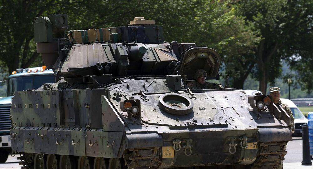 Veículo blindado M2 Bradley dos EUA (foto de arquivo)