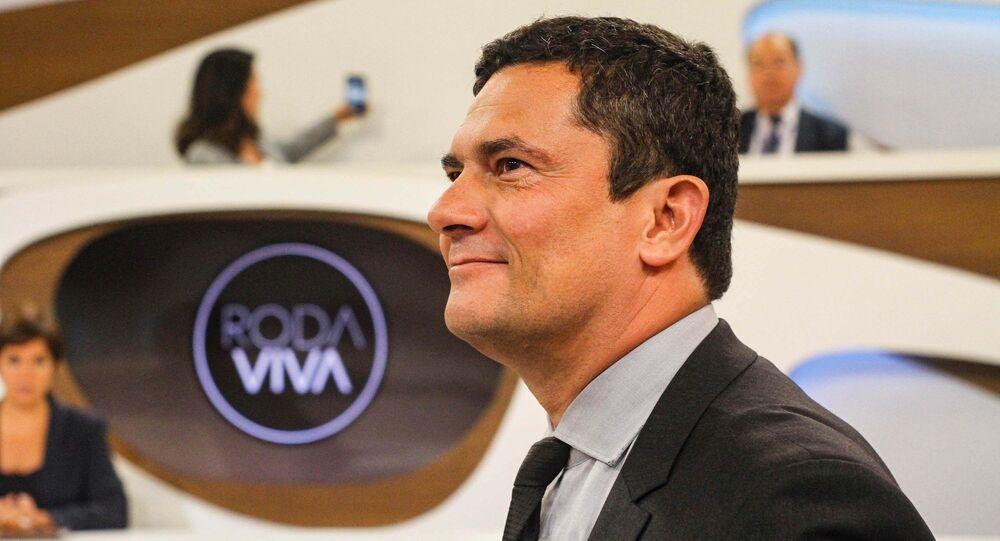 Ministro da Justiça Sergio Moro participa do programa Roda Viva na Tv Cultura em São Paulo (SP), 20 de janeiro de 2020