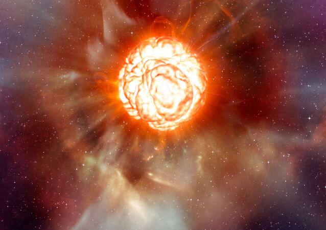 Betelgeuse, estrela vermelha (representação gráfica)