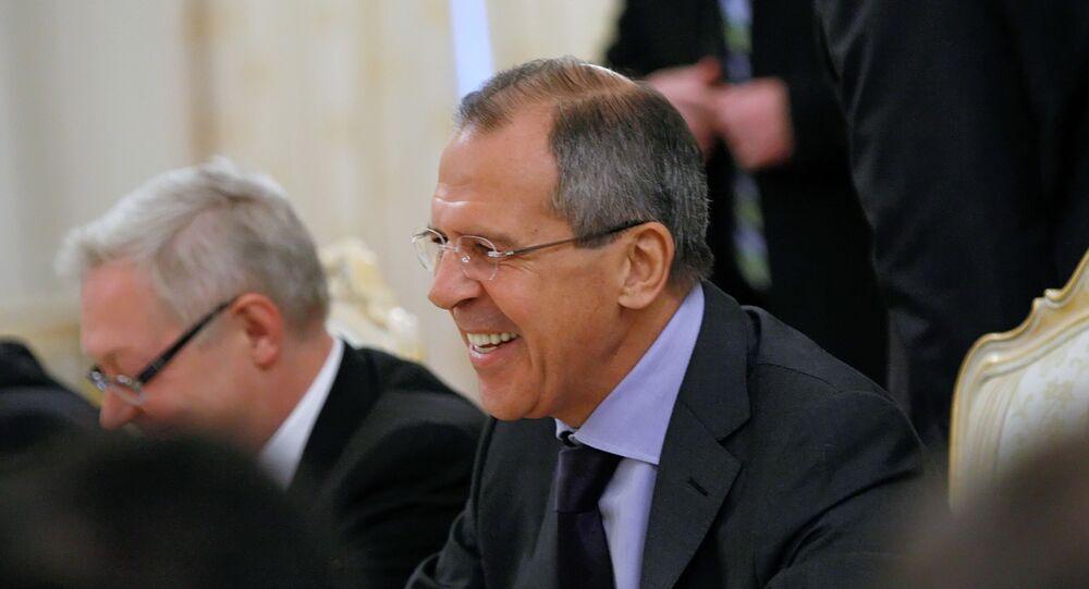 Ministro das Relações Exteriores da Rússia, Sergei Lavrov, durante reunião de trabalho (foto de arquivo)