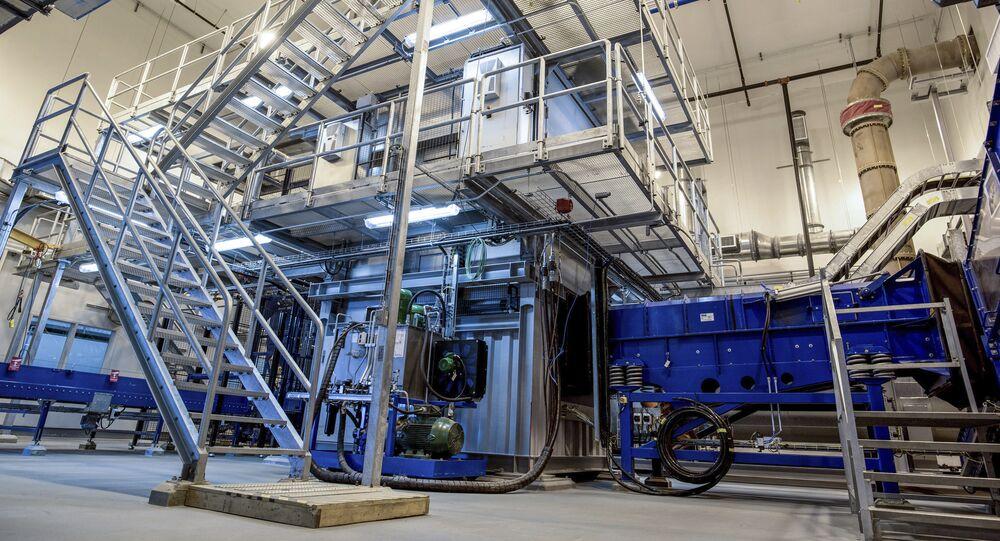 Câmara de detonação estática na planta de destruição de agentes químicos Blue Grass, perto de Richmond, Kentucky