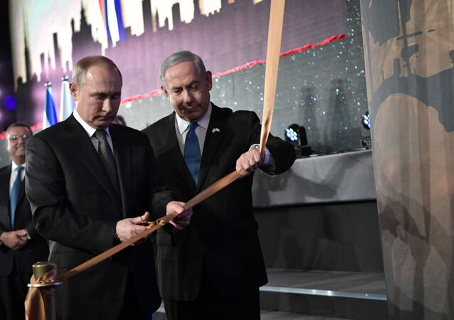 O presidente russo, Vladimir Putin e o primeiro-ministro israelense, Benjamín Netanyahu.