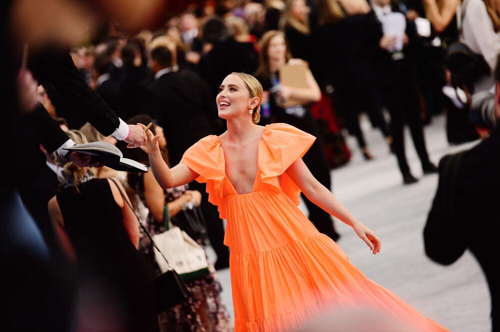 A atriz Kathryn Newton participa do 26° Prêmio do Sindicato dos Atores na Califórnia