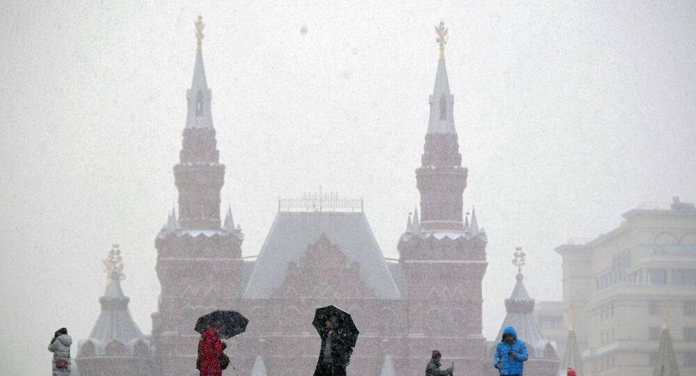 Turistas na Praça Vermelha em Moscou