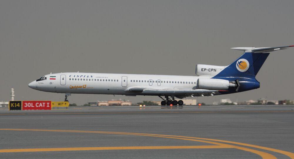 Avião Tu-154M da Caspian Airlines, Irã (imagem de arquivo)