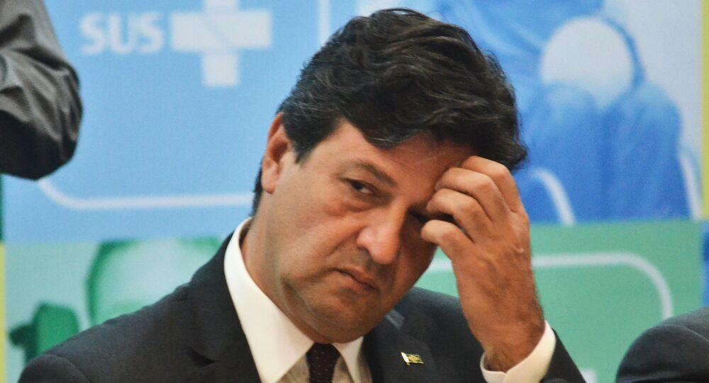 O ministro da Saúde, Luiz Henrique Mandetta, em evento em dezembro de 2019.
