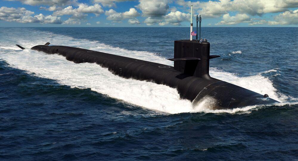 Ilustração do futuro submarino porta-mísseis da classe Columbia