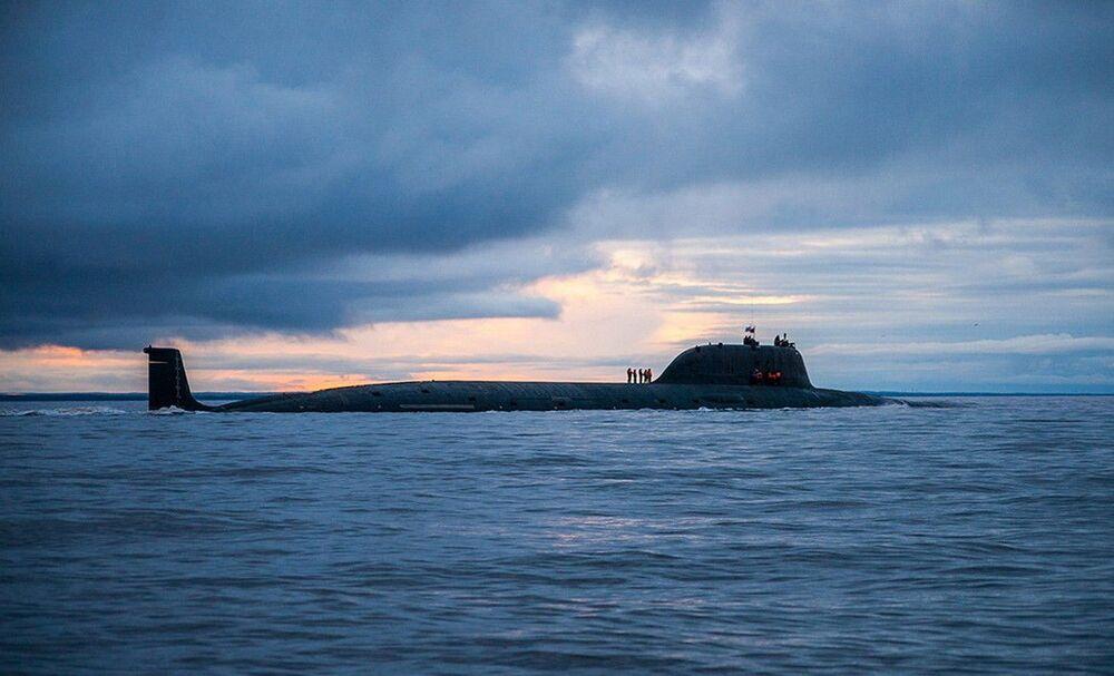 Submarino nuclear Severodvinsk (em 5º lugar da lista da National Interest) da Frota do Norte da Rússia