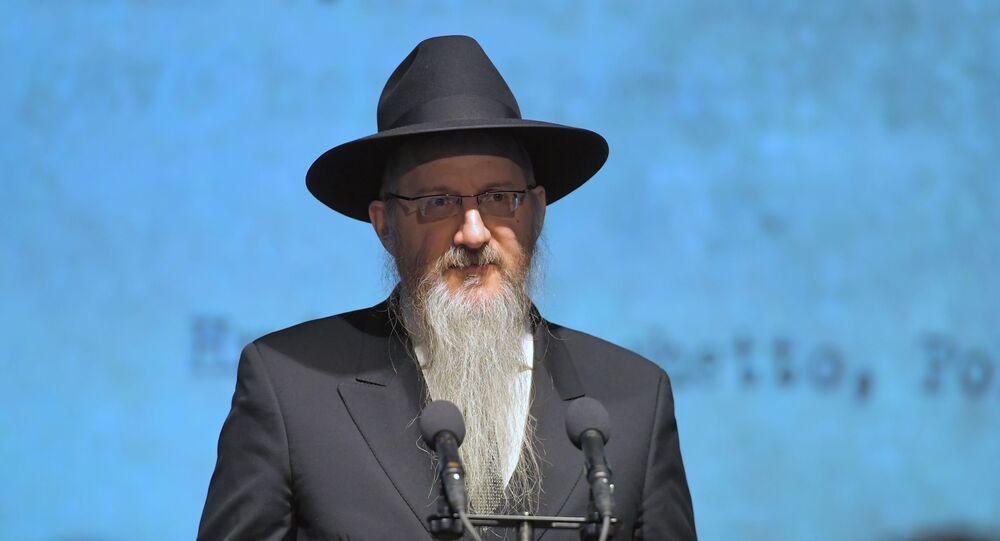 O rabino-chefe da Rússia, Berl Lazar