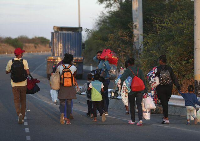 Imigrantes venezuelanos no Peru (arquivo)