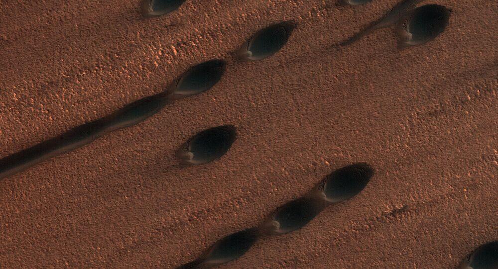 Dunas de areia de Marte