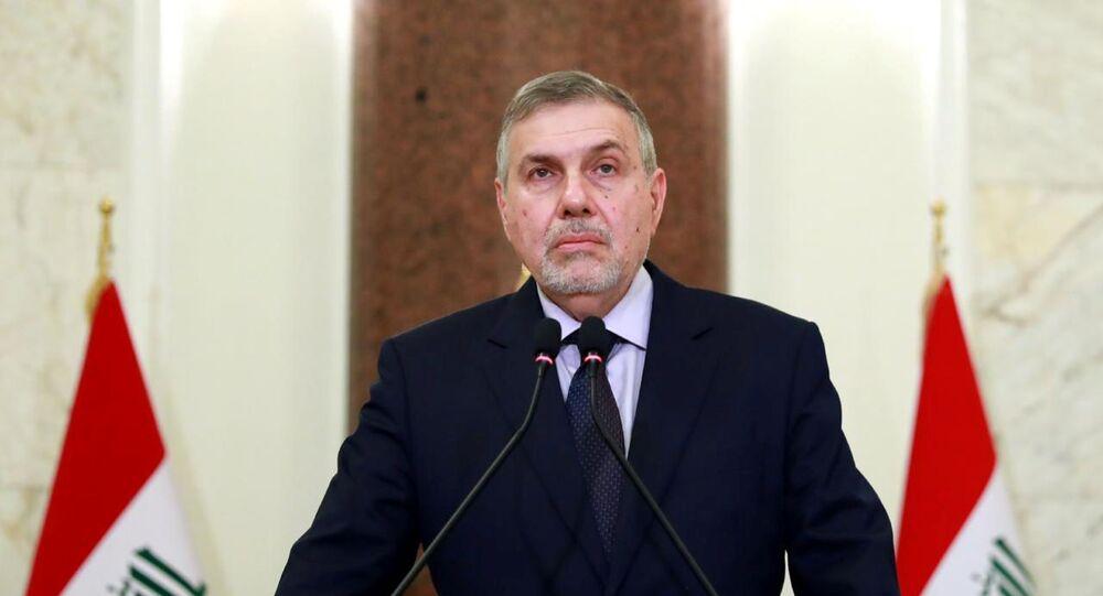 Novo primeiro-ministro do Iraque, Mohammed Tawfiq Allawi, faz seu primeiro discurso à nação
