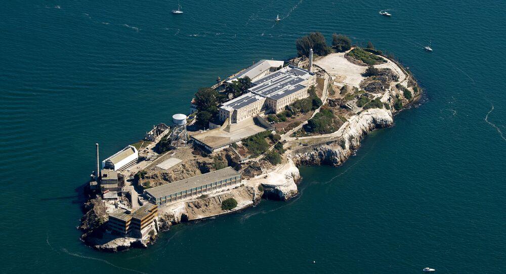 Prisão de Alcatraz em São Francisco, Califórnia, EUA (imagem de arquivo)