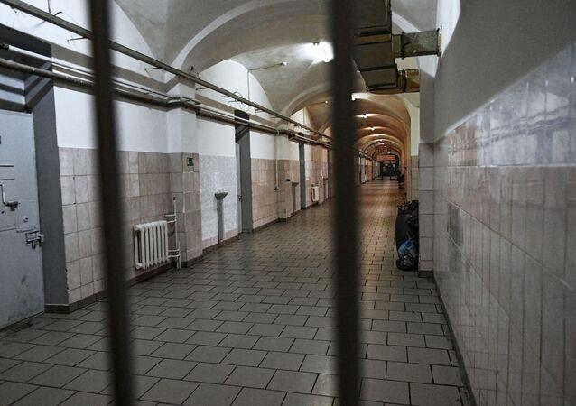 Corredor da prisão de Butyrka localizadas na região de Moscou, Rússia